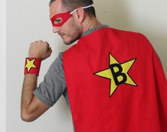 Adult Personalized Super Hero Cape Set