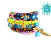 Tribal Bracelet,Friendship Bracelet,Swarovski Thunderbird Native American, Aztec Jewelry Set