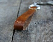 Leather Key Fob, Leather Keychain, Embroidery Thread, Native American, Coyote Tracks, Leather