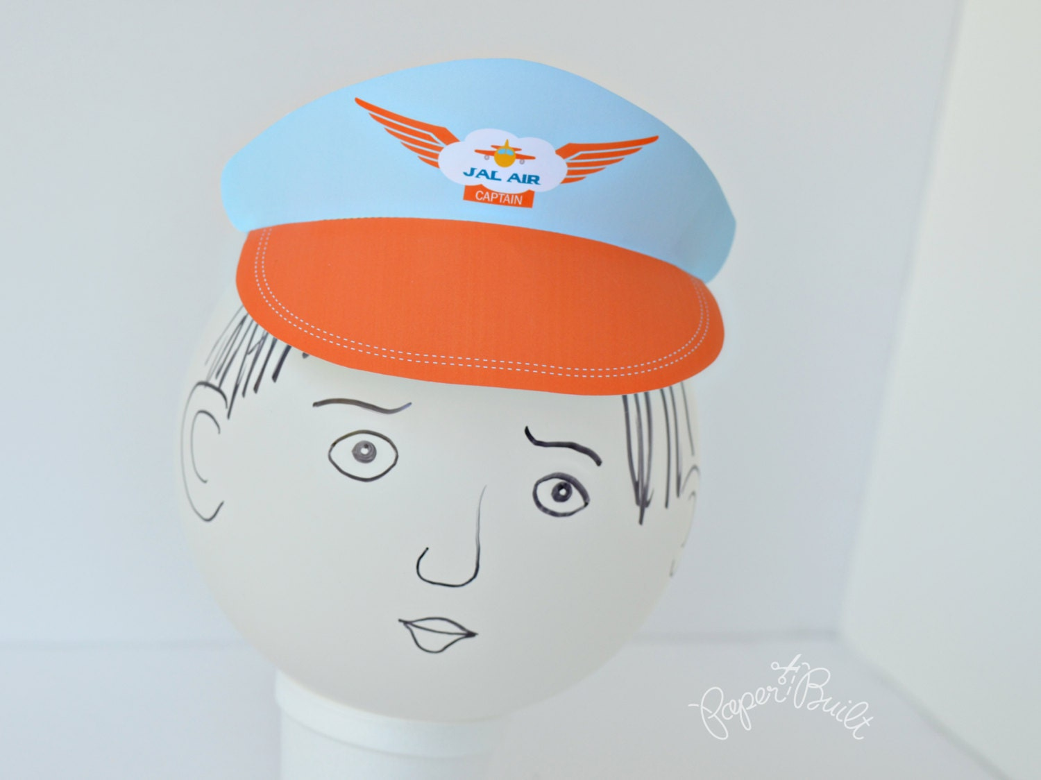 Printable airplane birthday party pilot hat visor zoom pronofoot35fo Gallery