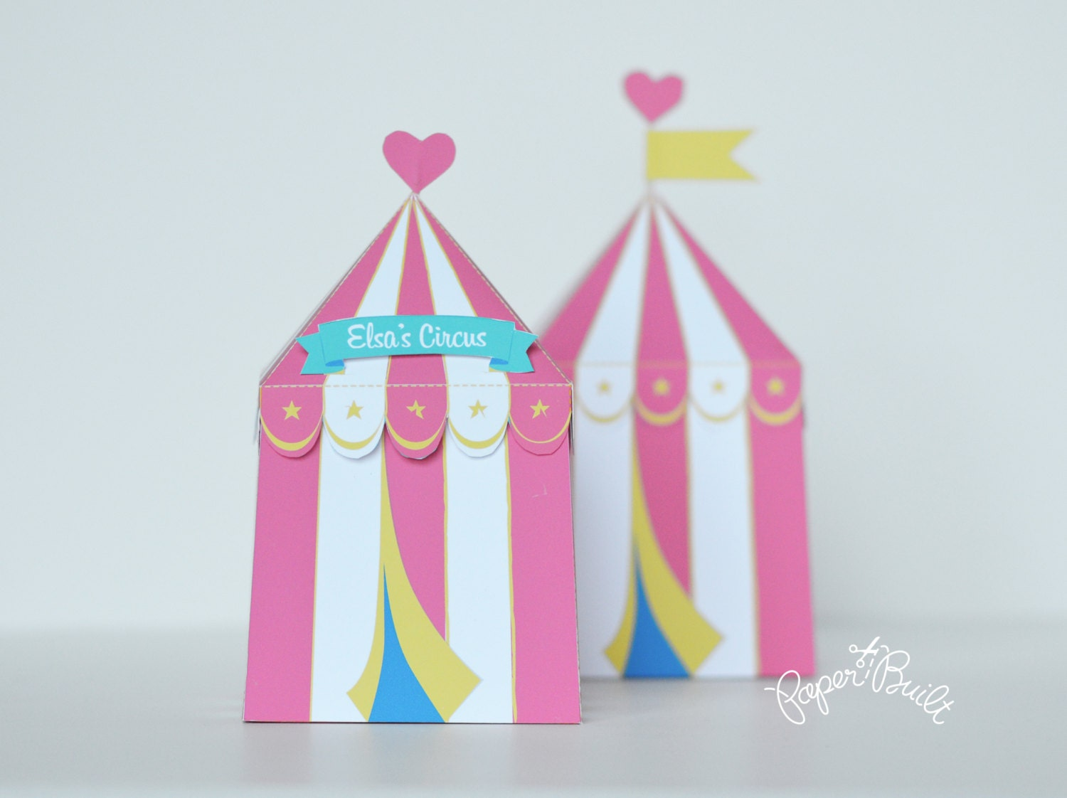This is a digital file  sc 1 st  Etsy Studio & Circus Tent Favor Box Gift Box Girly Party Circus Party Favor ...