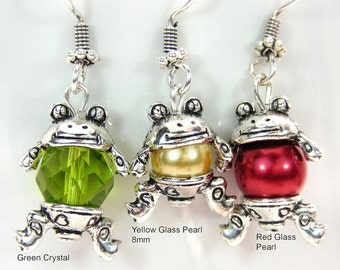 Frog Earrings and/or Necklace
