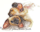 "Siamese Kitties Art Print: ""Partners"""