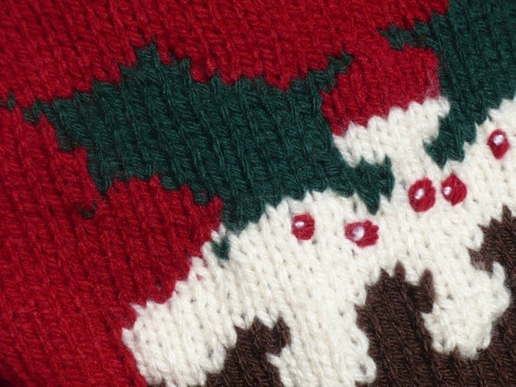 Knitting Pattern For Christmas Pudding Jumper : Christmas pudding sweater, chunky knitting pattern. from BernieBeeKnits on Et...