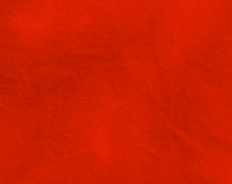BRIGHT RED  hand dyed, felted wool for rug hooking or other fiber arts projects