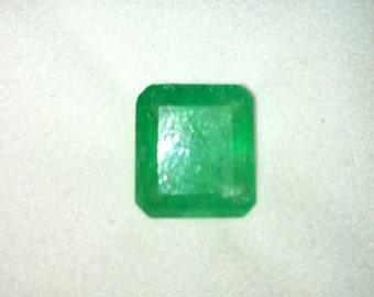 Repriced:  COLUMBIAN EMERALD Apple Green 4.92 Carats
