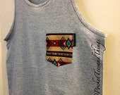 Customized Pocket Tank Tops. Sizes Men Small, Medium, Large, Extra Large