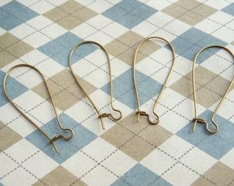 100 pcs of Antique Bronze Kidney Earwire 38mm