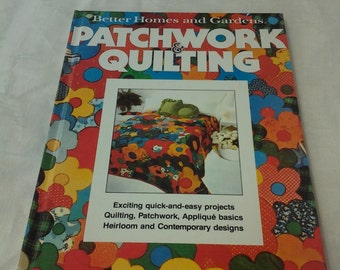 Better Homes and Gardens Patchwork and Quilting Craft Book 1977