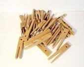 SALE Vintage Wooden Clothespins