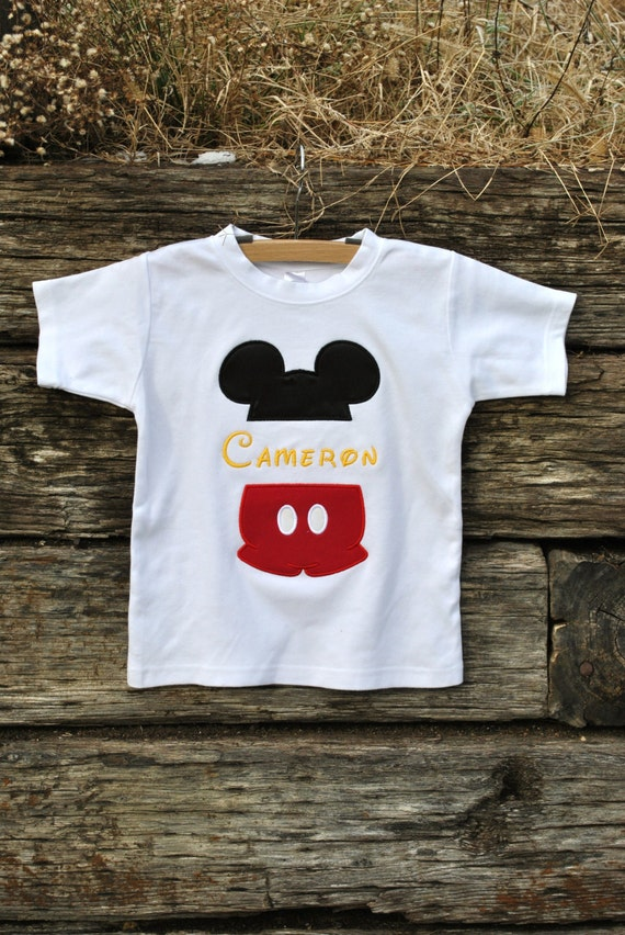 Mickey Mouse Split Name Shirt For Boys Sizes 6m 12yrs By