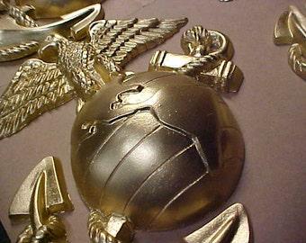 9 Inch Eagle Globe & Anchor Gold Finish -  In Stock!