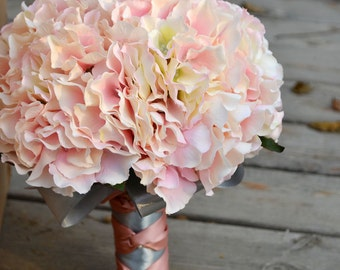 wedding bouqut artificial flower hydrange more color