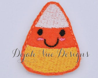 Kawaii Candy Corn Felt Embroidery Design Feltie Clippie