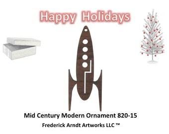 820-15 Mid Century Modern Christmas Ornament