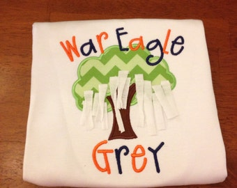 Auburn Toomer's Corner Rolled Tree-football-Auburn Football-boy-girl-football