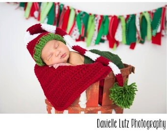 Santa Pixie Elf Hat-Infant size