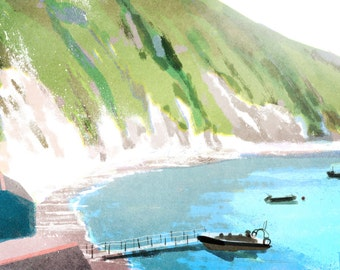 Lulworth Cove, Dorset art print, A4 or A3