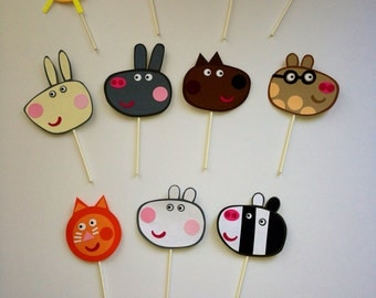Peppa pig party decorations, Peppa pig cake topper, cake decoration