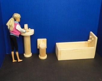 Bathroom Set for 12 inch Dolls (0116)