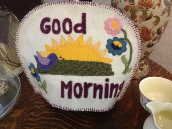 Tea Cozy pattern with sun, birds and flowers