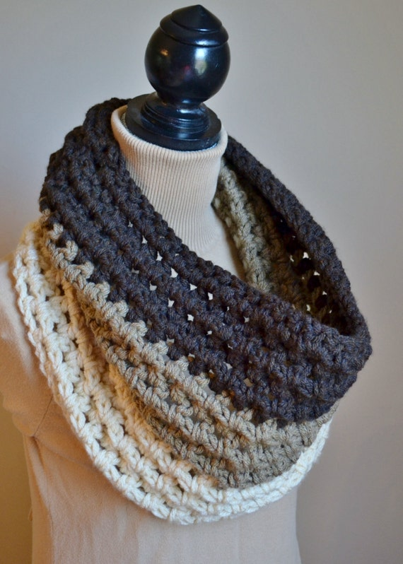 Items similar to The Ombre Chunky Crochet Cowl on Etsy