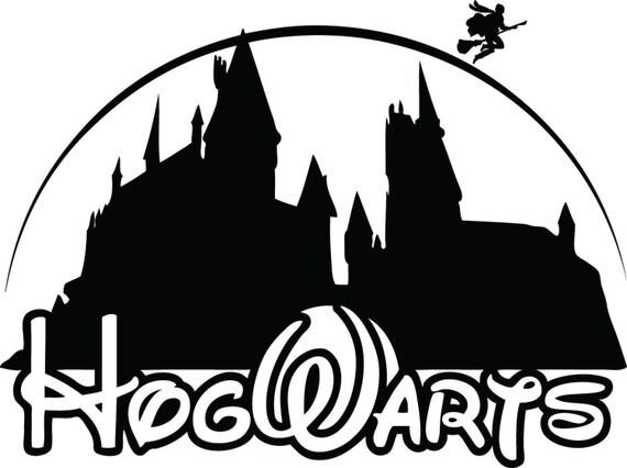 Hogwarts harry potter disney school decal sticker by - Hogwarts decal ...
