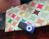 Ice Cream in Teal Zippered Travel Pouch / Overnight Pouch