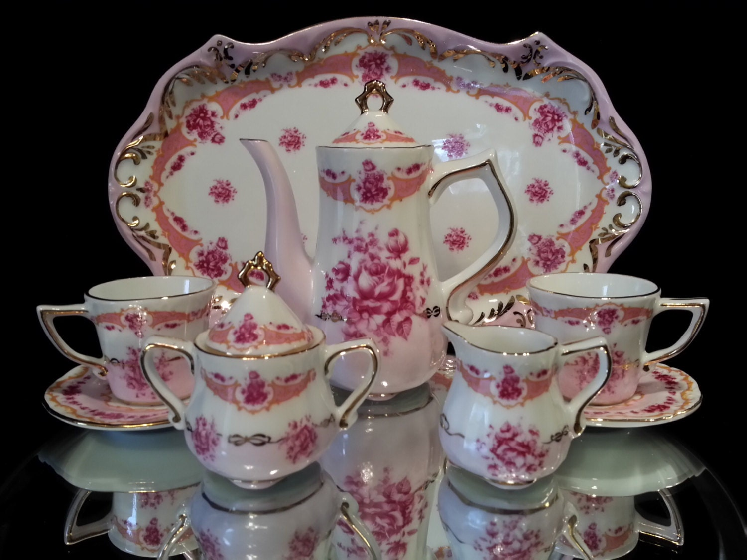 10 piece mini limoges france porcelain by oldgloriestatesale. Black Bedroom Furniture Sets. Home Design Ideas