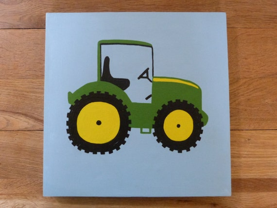 John Deere Wall Decor : Items similar to kids nursery wall art john deere tractor