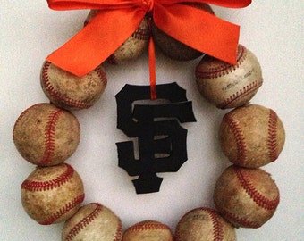 San Francisco Giants Baseball Wreath