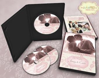 Elegant wedding dvd template photoshop templates cpz015 pink wedding dvd case photoshop templates cpz007 pronofoot35fo Choice Image
