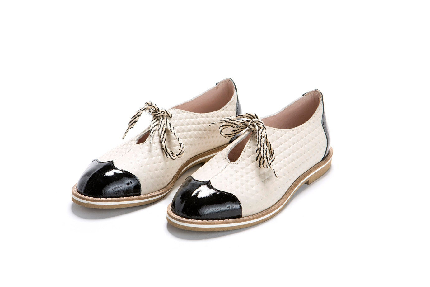 oxford shoes black white shoes oxford style flat