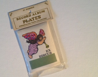 Vintage 60s Ex Discus 25 Gummed Record LP Music ID Tags New Old Stock c.1960s