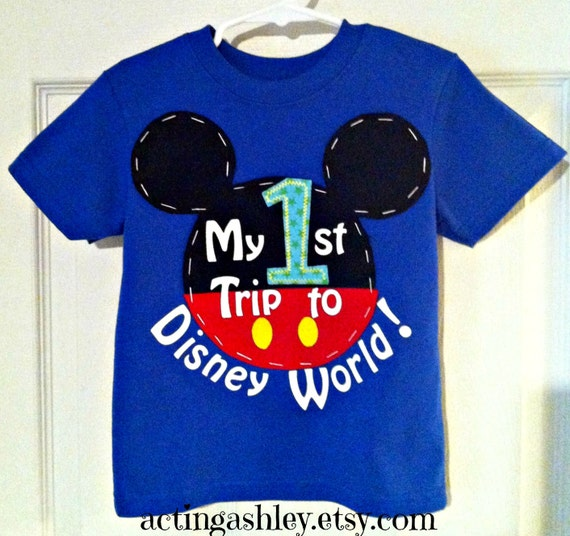 my first 1st trip to disney world shirt for boys by
