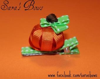 3D Pumpkin Hair Clip