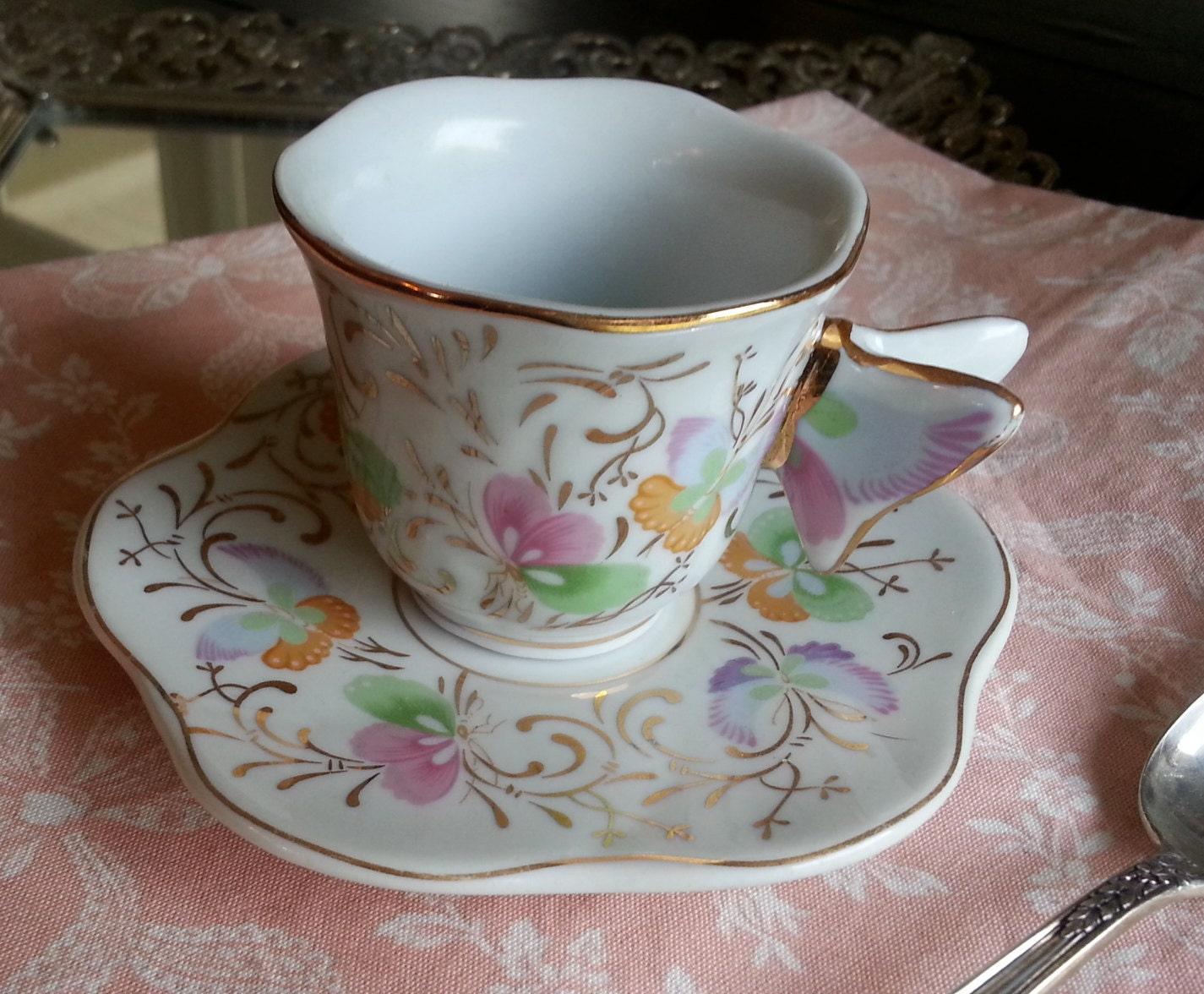 Formalities By Baum Bros Butterfly Handle Demitasse Tea Cup