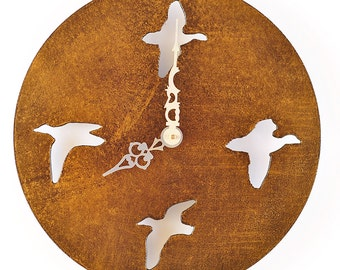Cast Bronze Finish  Bird Clock
