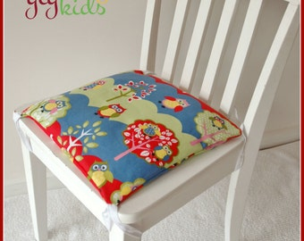 Square Cushion - Hoot Hoot: Children/Kids Cushion for Toddler Chair