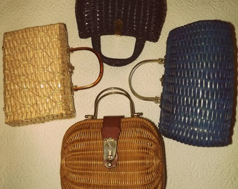 Vintage Madmen Basketweave Purses