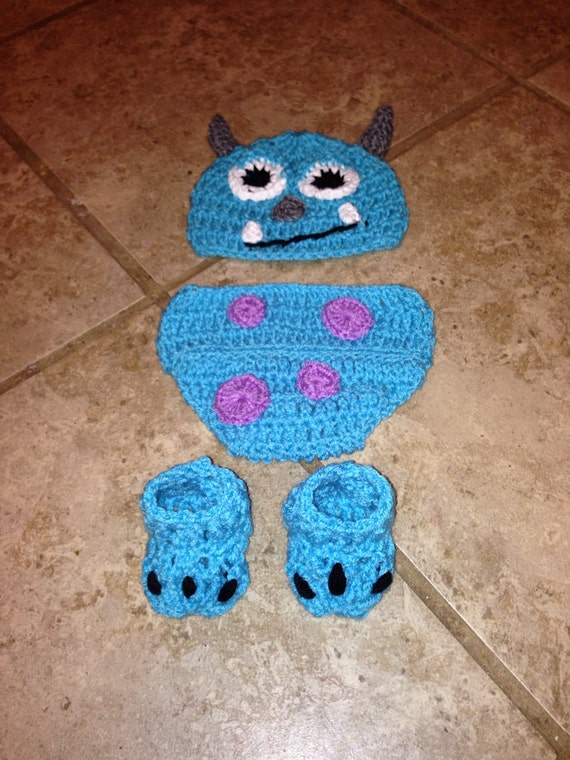Crochet sully inspired from monsters inc hat by ...