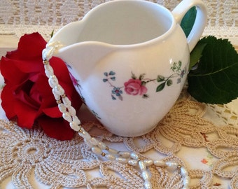 Vintage bone china Rose Milk Jug made by the Royal Albert Pottery Works