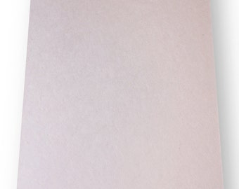 "25 Shts 10"" x 20"" CardStock Handmade Paper - Natural Creme Color (220 gsm)"