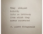 F. Scott Fitzgerald Love Quote Made On Typewriter, typewriter quote