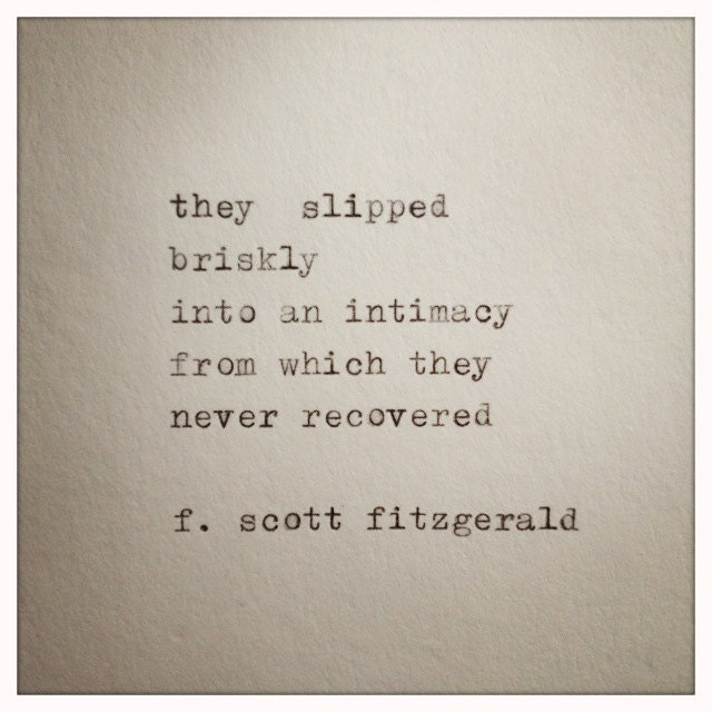 Literary Quotes About Love Tumblr : Scott Fitzgerald Love Quote Made On Typewriter typewriter