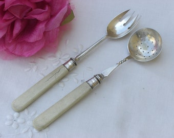 Spoon and Fork - Silver Plate - Antique