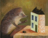 """Fine Art Print of an Original Animal Painting: """"The Doll's House"""""""