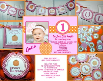 Fall Birthday- Fall Birthday Party - Fall Birthday Decorations-Fall Birthday PackageFREE Thank You Cards
