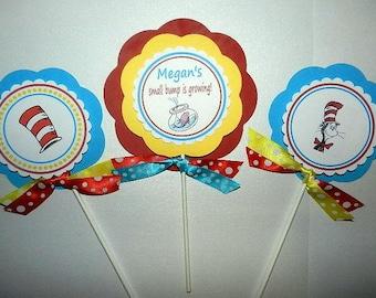 Dr Seuss - Dr Seuss Baby Shower-Dr Seuss Baby Shower Decorations- Dr Seuss Centerpieces- Dr Seuss Baby Shower