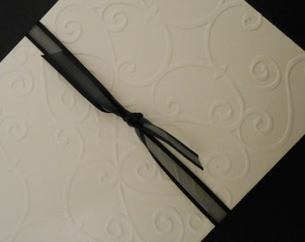 Set of six Handmade Cards with a French Flair Hand Embossed
